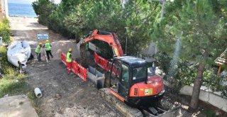 İZSU Mordoğan'da kanal altyapısı ve arıtma tesisi kuruyor