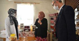 Büyükşehir'in yardımlarına anne eli değdi