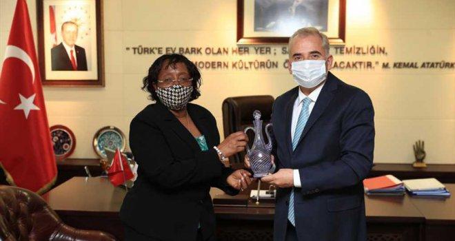 Tanzanya Büyükelçisi'nden Başkan Zolan'a ziyaret