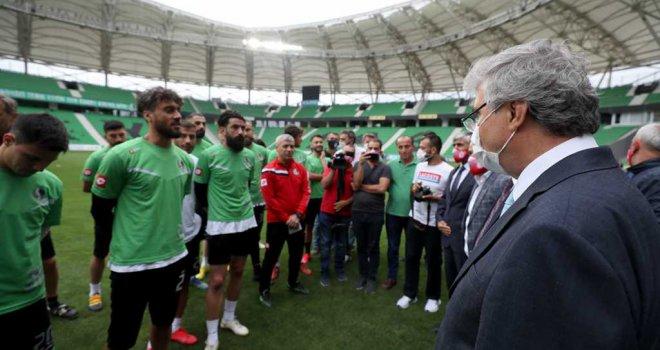 Yüce: Şampiyonluk Antalya'dan şehrimize gelecek