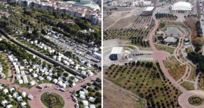 İzmir'de son çadır da bugün kaldırıldı