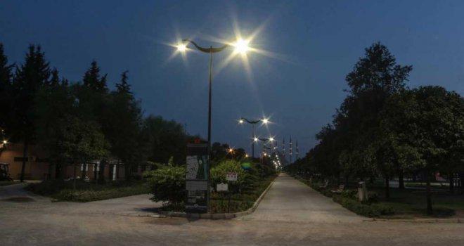 Merkez Park şimdi daha güvenli ve ışıl ışıl