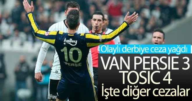 PFDK Beşiktaş ve F.Bahçe'ye ceza yağdırdı