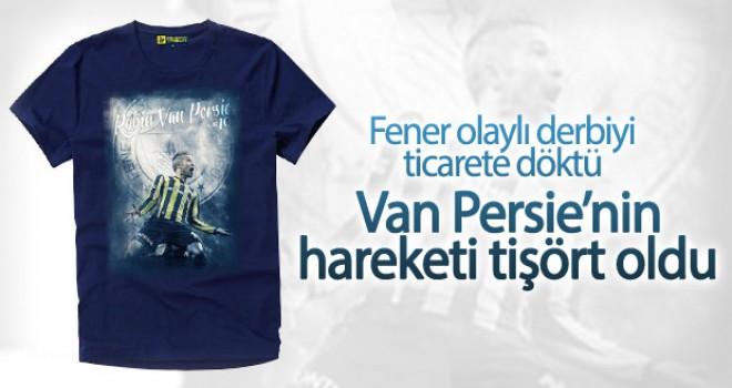 Van Persie'nin hareketi tişört oldu