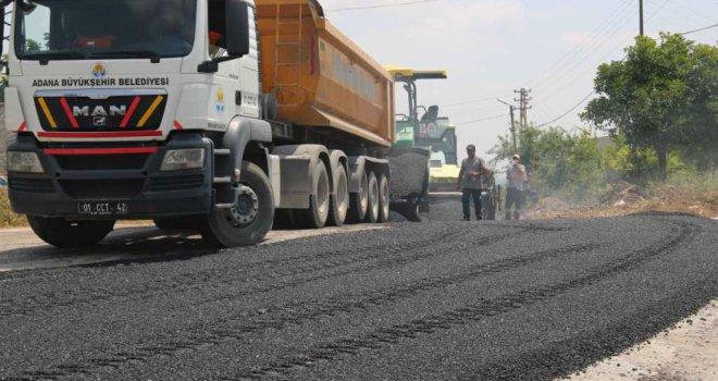 Büyükşehir asfalt çalışmalarını kararlılıkla sürdürüyor