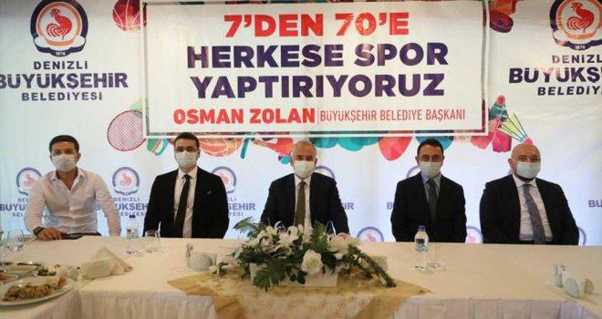 Başkan Zolan: '6 yılda 245 bin kişiye ücretsiz spor kursu verdik'