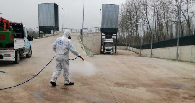 Şehrin her noktası dezenfekte ediliyor