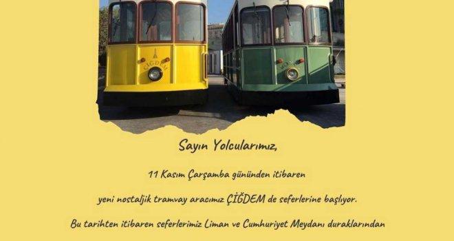 İkinci nostaljik tramvay da geldi