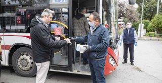 Büyükşehir Belediyesi'nden ilçelere 140 bin maske