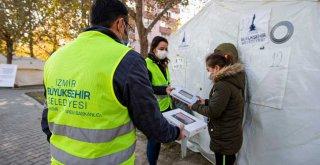 Büyükşehir'den depremzede çocuklara tablet desteği