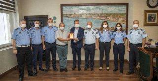 Mersin Büyükşehir Zabıtasından Başkan Seçer'e Ziyaret