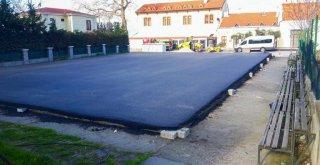 Mudanya basketbol sahası yenileniyor