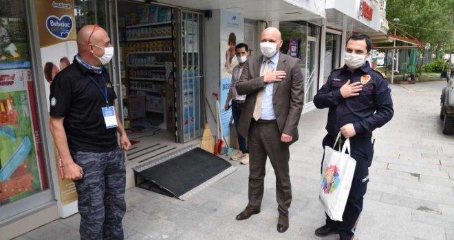 Büyükşehir'den MAT ve AKUT'a Maske Desteği