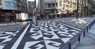 Sanat eseri gibi yaya geçidi İzmir'de öncelik yayaların güvenliği