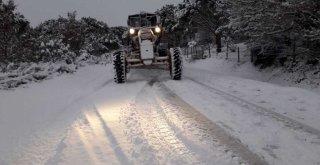 78 köy ve mahalle yolunda kar küreme çalışması yapıldı